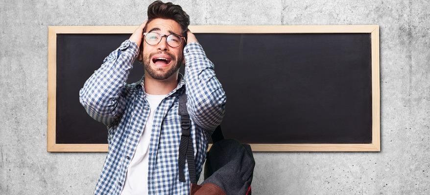 fasi dello studente sotto esame